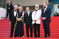 Actor Keir Dullea, Stanley Kubricks daughter Katharina Kubrick, Stanley Kubricks producing partner and brother-in-law Jan Harlan and director Christopher Nolan and guest (C) attend the screening of 2001: A Space Odyssey ahead of the Sink Or Swim (Le Grand Bain) Premiere during the 71st annual Cannes Film Festival at Palais des Festivals on May 13, 2018 in Cannes, France. Photo by Shootpix/ABACAPRESS.COM