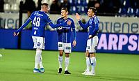 Fotball, 20. oktober  2019 , Eliteserien , Sarpsborg - Brann 1-1<br />  Kyle Lafferty , Kristoffer Zachariassen , Magnar Ødegård , Sarpsborg