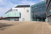 Modern architecture Suffolk New College building, Ipswich, Suffolk, England, UK
