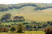 Landscape, Lydden Temple Ewell, Kent UK - Kent Wildlife Trust, farmland grazing fields