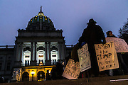 """Keystone Progress organized a gathering at the Pennsylvania State Capitol on inauguration day to """"begin the nonviolent resistance to the Trump Agenda."""""""