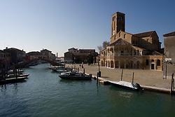 Murano Island (Venice) 2007 - Canal on Murano Island. Bridge near Basilica of Santi Maria and Donato.