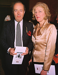 MR PAUL & LADY TANA FOCKE at a reception in London on 20th April 1999.MRF 21