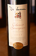 A bottle of R de Lucca Cabernet Sauvignon Vino de El Colorado 2002 Bodega De Lucca Winery, El Colorado, Progreso, Uruguay, South America