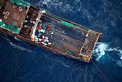 ATLANTIC OCEAN 20NOV14 - Fishing activities in the Atlantic Ocean off the coast of Guinea-Conakry. Stern trawler CNFC 9310, callsign BBGX, seen fishing near the 12 nautical mile border.<br /> <br /> jre/Photo by Jiri Rezac / Greenpeace<br /> <br /> © Jiri Rezac 2014