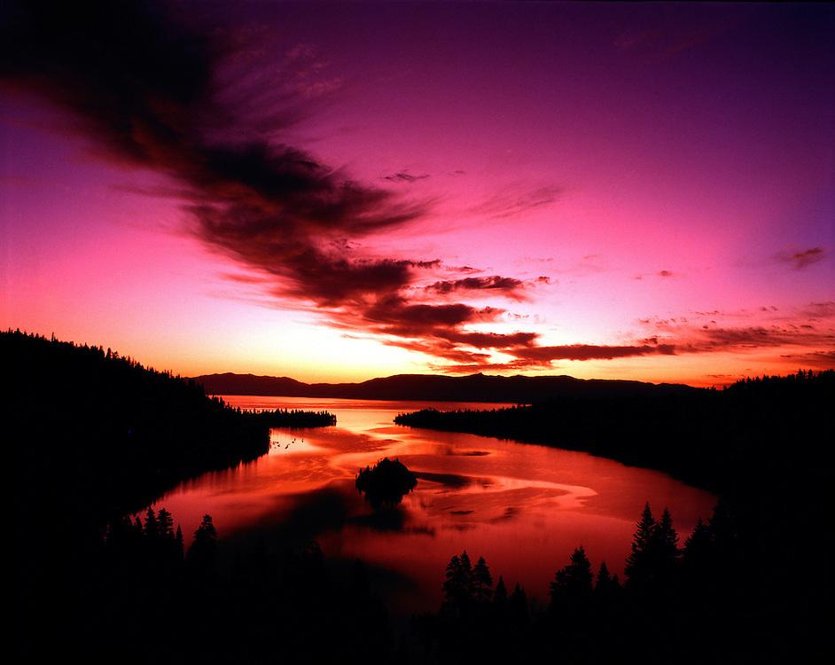 Lake Tahoe Landscape Emerald Bay Sunrise Lake Tahoe