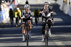 September 16, 2017 - Bergen, Norway - BERGEN, NORWAY - SEPTEMBER 16 : Floortje Mackaij and Sabrina Stultiens pictured during the reconnaisance of the Team Time Trial 2017 World Road Championship cycling race on September 16, 2017 in Bergen, Norway, 16/09/2017 (Credit Image: © Panoramic via ZUMA Press)