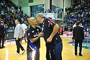 DESCRIZIONE : Campionato 2013/14 Semifinale GARA 3 Dinamo Banco di Sardegna Sassari - Olimpia EA7 Emporio Armani Milano<br /> GIOCATORE : Stefano Sardara Romeo Sacchetti 200 Partite<br /> CATEGORIA : Allenatore Coach Premio Award<br /> SQUADRA : Dinamo Banco di Sardegna Sassari<br /> EVENTO : LegaBasket Serie A Beko Playoff 2013/2014<br /> GARA : Dinamo Banco di Sardegna Sassari - Enel Brindisi Semifinale Gara3<br /> DATA : 03/06/2014<br /> SPORT : Pallacanestro <br /> AUTORE : Agenzia Ciamillo-Castoria / M.Turrini<br /> Galleria : LegaBasket Serie A Beko Playoff 2013/2014<br /> Fotonotizia : DESCRIZIONE : Campionato 2013/14 Semifinale GARA 3 Dinamo Banco di Sardegna Sassari - Olimpia EA7 Emporio Armani Milano<br /> Predefinita :