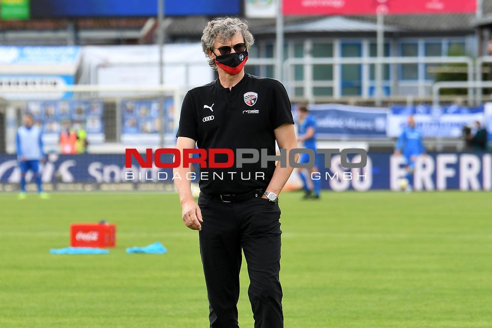 28.06.2020, Hänsch-Arena, Meppen, GER, 3.FBL, SV Meppen vs. FC Ingolstadt 04 <br /> <br /> im Bild<br /> Direktor Sport Michael Henke (FC Ingolstadt 04)<br /> <br /> DFL REGULATIONS PROHIBIT ANY USE OF PHOTOGRAPHS AS IMAGE SEQUENCES AND/OR QUASI-VIDEO<br /> <br /> Foto © nordphoto / Paetzel