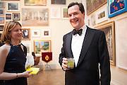 FRANCES OSBORNE; GEORGE OSBORNE, Royal Academy Annual Dinner 2013. Piccadilly. London. 4 June 2013.