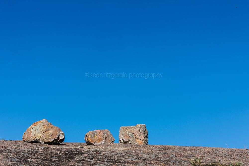 Boulders on Enchanted Rock, Enchanted Rock State Natural Area, near Fredericksburg, Texas in the Texas Hill Country, USA.