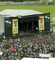 Stage at T in the Park, July 11, 2004..©Michael Schofield..
