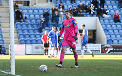 Alex Palmer of Plymouth Argyle looks dejected after conceding the first goal - Mandatory by-line: Arron Gent/JMP - 08/02/2020 - FOOTBALL - JobServe Community Stadium - Colchester, England - Colchester United v Plymouth Argyle - Sky Bet League Two