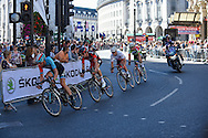 Early break away group at Piccadilly Circus during the Tour of Britain 2016 stage 8 , London, United Kingdom on 11 September 2016. Photo by Martin Cole.