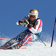 Nick Daniels, USA, in action during the Men's Giant Slalom competition at Coronet Peak, New Zealand during the Winter Games. Queenstown, New Zealand, 22nd August 2011. Photo Tim Clayton