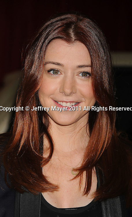 """HOLLYWOOD, {CA} - NOVEMBER 12: Alyson Hannigan  attends """"The Muppet"""" Los Angeles Premiere at the El Capitan Theatre on November 12, 2011 in Hollywood, California."""