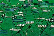 Chairs, Bryant Park, Manhattan, New York City, New York, USA