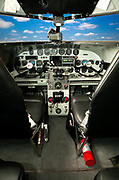 The cockpit panel of a Lockheed 12A Electra Junior, owned and flown by Joe Shepherd of Fayetteville, Georgia.  In the late 1930's, this aircraft was the executive aircraft of it's day, and many were pressed into service by the military during WWII.  <br />
