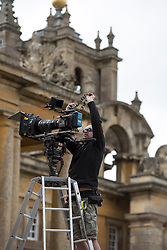 © Licensed to London News Pictures. 27/03/2015. Filming for the new Bollywood production 'FAN' starring Shah Rukh Khan (not pictured), at Blenheim Palace in Woodstock, Oxfordshire, UK on March 27, 2015. Shah Rukh Khan (Also known as SRK) has appeared in more than 80 Bollywood films and is considered to be one of the worlds biggest film and television stars. Photo credit: Mark Hemsworth/LNP