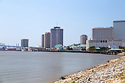 The Mississippi river passing through New Orleans, LA, USA