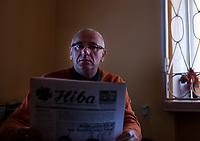 """Bialystok, 5.01.2018. N/z Eugeniusz Wappa redaktor naczelny """" Niwy """" - tygodnika Bialorusinow w Polsce w redakcji pisma fot Michal Kosc / AGENCJA WSCHOD"""