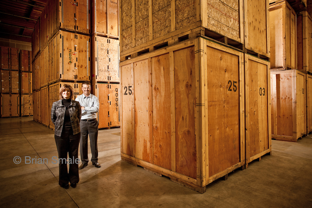 Marlaine McCauley and Matt Watson, of Apex Facility Resources, in their Seattle facility.