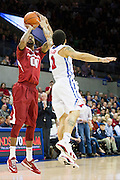 DALLAS, TX - NOVEMBER 25: Rashad Madden #00 of the Arkansas Razorbacks shoots the ball against the SMU Mustangs on November 25, 2014 at Moody Coliseum in Dallas, Texas.  (Photo by Cooper Neill/Getty Images) *** Local Caption *** Rashad Madden