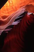 Sandstone patterns in Lower Antelope Canyon near Page, Arizona