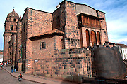 PERU, HIGHLANDS, CUZCO, INCA Coricancha Sun Temple, Santo Domingo