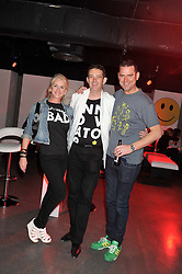 Left to right, CHARLOTTE STOCKTING, ? and BEN DAVEY at a party hosted by the Hello! magazine advertising department to celebrate 25 years of Hello! Magazine held at the London Film Museum, Covent Garden,London on 9th May 2013.