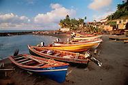 Row Of Boats On Beach