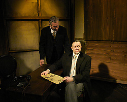 Plague of England<br /> by Nicholas de Jongh<br /> at the Finborough Theatre, London, Great Britain<br /> press photocall<br /> 27th February 2008<br /> <br /> <br /> Jasper Britton (as John Gielgud)<br /> Simon Dutton (as Binkie Beaumont)<br /> <br /> Photograph by Elliott Franks