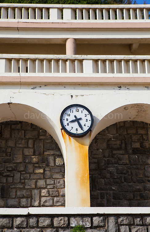 Stopped clock at the Plage de Port Vieux, Biarritz, Basque Country, France