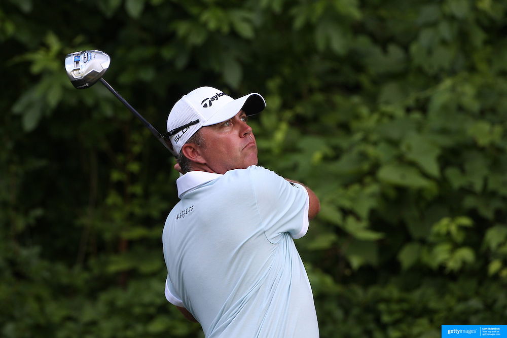 Bo Van Pelt, USA, in action during the first round of the Travelers Championship at the TPC River Highlands, Cromwell, Connecticut, USA. 19th June 2014. Photo Tim Clayton