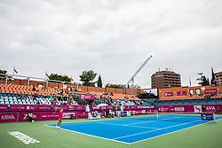 PORTOROZ, SLOVENIA - SEPTEMBER 16:  General view of a stadium during the WTA 250 Zavarovalnica Sava Portoroz at SRC Marina, on September 16, 2021 in Portoroz / Portorose, Slovenia. Photo by Vid Ponikvar / Sportida