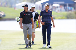 March 15, 2019 - Ponte Vedra Beach, FL, U.S. - PONTE VEDRA BEACH, FL - MARCH 15: Kevin Kisner of the United States and Daniel Berger walk on the 18th hole during the second round of THE PLAYERS Championship on March 15, 2019 on the Stadium Course at TPC Sawgrass in Ponte Vedra Beach, Fl.  (Photo by David Rosenblum/Icon Sportswire) (Credit Image: © David Rosenblum/Icon SMI via ZUMA Press)