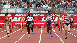 July 22, 2018 - London, United Kingdom - L-R  People's Republic of China Great Britain and Northern Ireland  Team 1, Great Britain and Northern Ireland  Team 2 and Netherlands Team during  4 x 100m Relay Women.during the Muller Anniversary Games IAAF Diamond League Day Two at The London Stadium on July 22, 2018 in London, England. (Credit Image: © Action Foto Sport/NurPhoto via ZUMA Press)