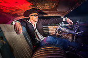 Music album cover photography for musician Clint Clymer.