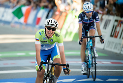 Arrival / Tadej Pogacar of Slovenia during the Men Under 23 Road Race a 179.9km Race from Kufstein to Innsbruck at 582m at the 91st UCI Road World Championships 2018 / RR / RWC / on September 28, 2018 in Innsbruck, Austria. Photo by Vid Ponikvar / Sportida