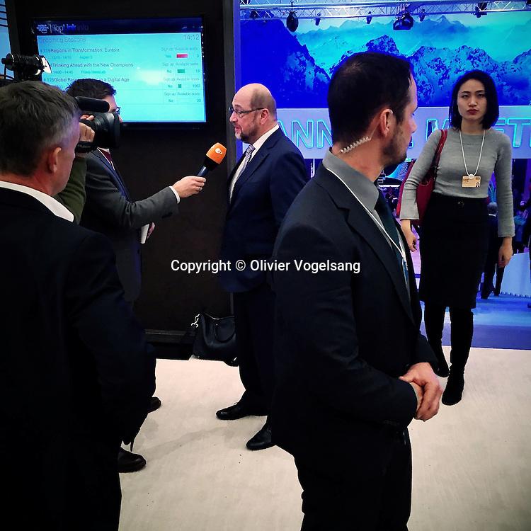Forum Economique de Davos 2015. Word Economic Forum in Davos 2015. <br /> Olivier Vogelsang