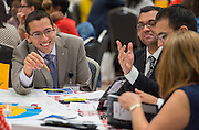 Houston ISD leaders collaborate on Literacy strategies during the opening day of the Summer Leadership Institute at Reliant Center, June 17, 2014.