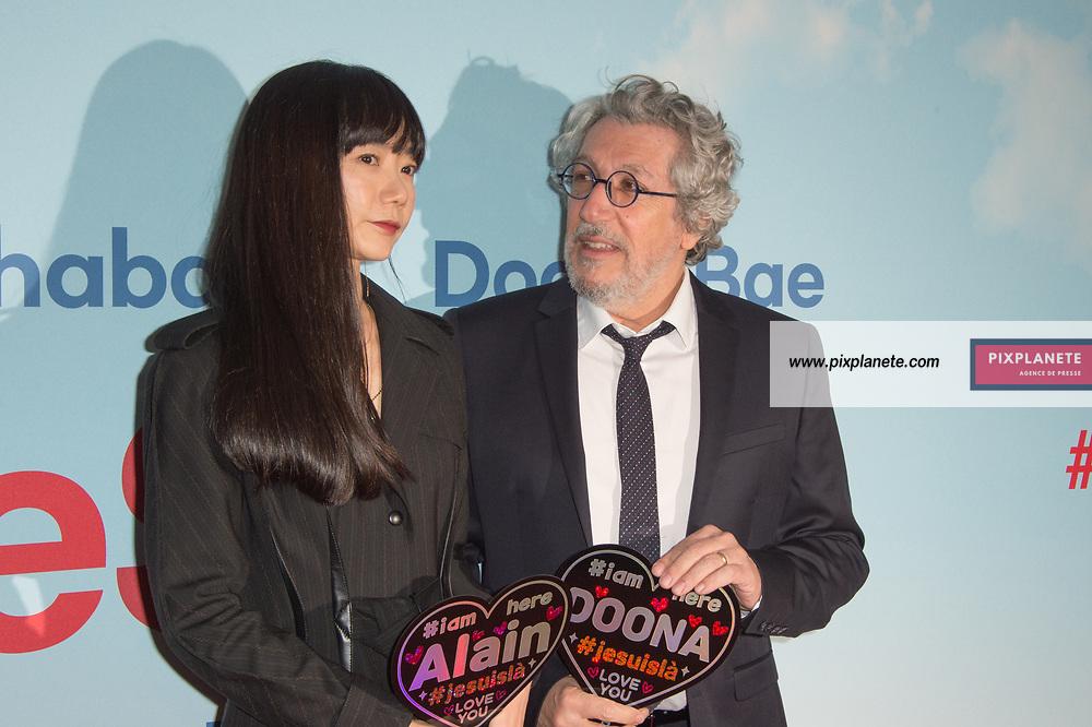 Alain Chabat - Doona Bae Avant Première du film # Je suis là Mardi 4 Février 2020 UGC Normandie Paris