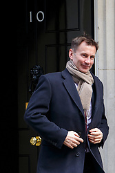 © licensed to London News Pictures. London, UK 18/03/2015. Health Secretary Jeremy Hunt attending to a cabinet meeting in Downing Street on the Budget Day, Wednesday, 18 March 2015. Photo credit: Tolga Akmen/LNP