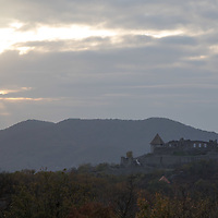 Castle of Visegrad is seen in the autumn afternoon from a neighbouring hill near Visegrad (about 43 kilometres North of capital city Budapest), Hungary on Nov. 1, 2017. ATTILA VOLGYI