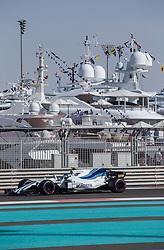 November 24, 2017 - Abu Dhabi, United Arab Emirates - Lance Stroll of Canada and Williams Team driver goes during the first practice at Formula One Etihad Airways Abu Dhabi Grand Prix on Nov 24, 2017 in Yas Marina Circuit, Abu Dhabi, UAE. (Credit Image: © Robert Szaniszlo/NurPhoto via ZUMA Press)