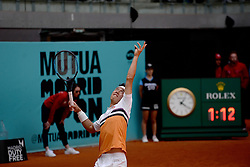 May 6, 2019 - Madrid, Spain - Successful start for  Kei Nishikori (JPN) in doubles in his match against Fognini (ITA)  and Robert Lindstedt (SWE) during day three of the Mutua Madrid Open at La Caja Magica in Madrid on 6th May, 2019. (Credit Image: © Juan Carlos Lucas/NurPhoto via ZUMA Press)