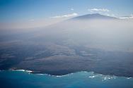 Aerial view left to right  Hualālai and Mona Loa, Hawaii.