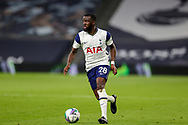 Tottenham Hotspur midfielder Tanguy NDombele (28) during the EFL Cup Fourth Round match between Tottenham Hotspur and Chelsea at Tottenham Hotspur Stadium, London, United Kingdom on 29 September 2020.