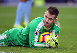 Burnley goalkeeper Thomas Heaton holds onto the ball during the Premier League match at Turf Moor, Burnley.