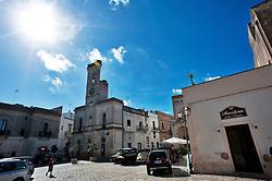 Alessano 17 ottobre 2012..Vista Piazza Don Tonino Bello, centro del Comune di Alessano (Salento) in provincia di Lecce.